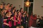 KristaJones och Heliga Kors Gospel, Eringsboda kyrka, januari 2007. Foto Martina Karlsson