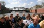 Heliga Kors Gospel på båtutflykt i Hamburg med delar av den tyska gospelkören Gospolitans