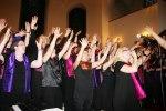 Heliga Kors Gospel och Gospolitans med Lisa Fridfors i spetsen. Matthäeuskyrkan i Winterhude, Hamburg 3 maj. Foto: Martina Karlsson