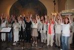 Pingstgospel. Heliga Kors Gospel tillsammans med kören Korinterna i Listerby kyrka. Foto: Marie Johansson