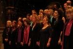 Heliga Kors Gospel tillsammans med Rejoice i Allhelgonakyrkan i Lund. Foto: Martina Karlsson
