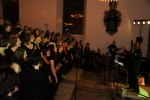Medlemmar i Heliga Kors Gospel tillsammans med flera andra gospelkörer vid konsert i Karshamn med Gerald T Smith. Foto: Martina Karlsson