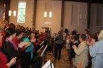 Konsert tillsammans med de tyska körerna Happy Gospel Voices och Sing and Swing i Bugenhagenkirche 1/5. Foto Martina Karlsson