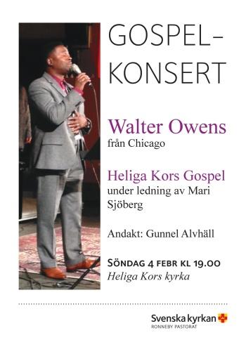Heliga Kors Gospel tillsamman med Magnus Carlsson och Lisa Ljungberg i Bräkne-Hoby kyrka.