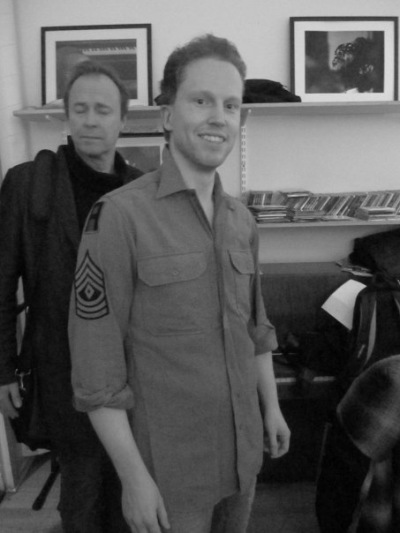 With Göran Edman before a gig