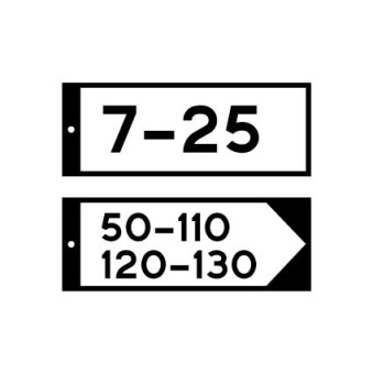 Gatunamnskylt - Gatunamnskylt L=400mm