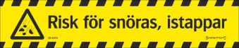 Avspärrningsband SNÖ - Avspärrningsband SNÖRAS 75mm