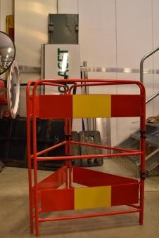 Avspärrningshage aluminium 3-sidig - Avspärrningshage röd alu.