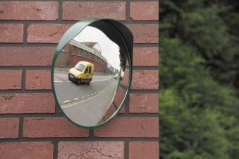 Trafikspegel rund - Rund trafikspegel grön Ø300mm