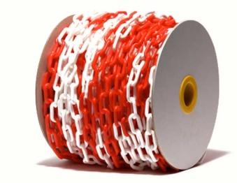 Plastkätting - Plastkätting röd/vit