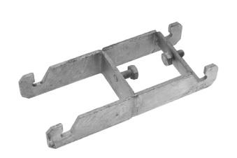 Snabbklammer fyrkantsrör (dubbel) - Snabbklammer dubbel 60mm