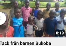 Tack från barnen i Bukoba
