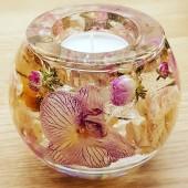 orchide liten ljusdekoration 6
