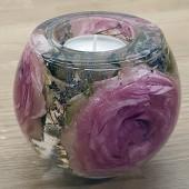 liten  ljusdekoration rosa roser 3