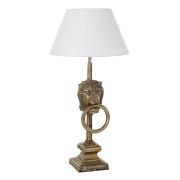 Bordslampa lejon antik