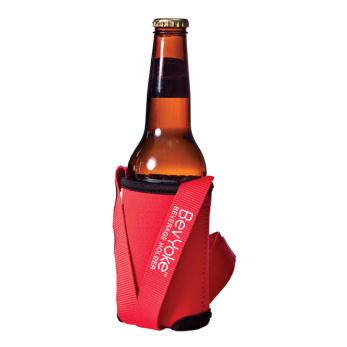 Burk/flaskhållare 2 färger - Burkhållare med halsband röd