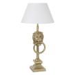 Bordslampa lejon - Bordslampa lejon guld