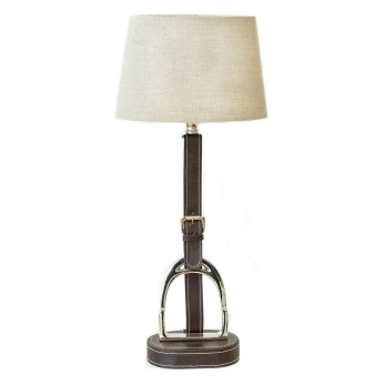 Bordslampa stigbygel brun -