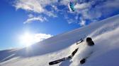 kitesurfa på snö