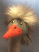 Filurig fågel i keramik Marianne Åkerberg