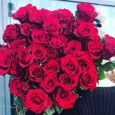 Röda Långa Rosor