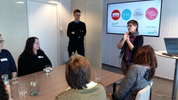 Oskar Rommel från M29 och Karina Johansson från Coompanion informerade om arbetsintegrerande företag.