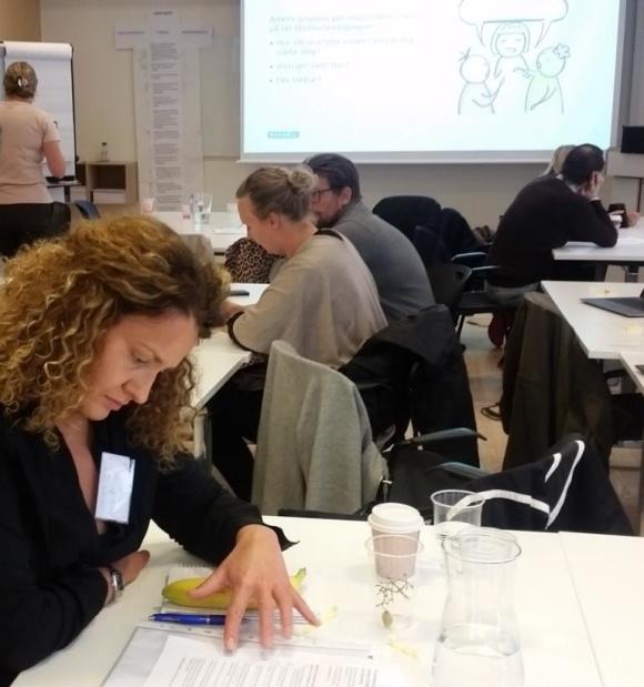 Arbete i grupper var en viktig del av workshopen. Foto: Elsa Lundqvist