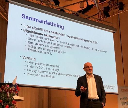 Professor Olli Kangas berättade om det finska experimentet med basinkomst.