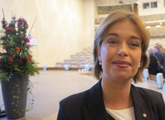 Socialförsäkringsminister Annika Strandhäll besökte konferensen.