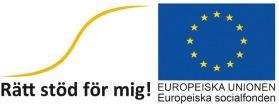 """Hoppet är ett delprojekt i ESF-projektet """"Rätt stöd för mig!"""" som stöds av Europeiska socialfonden, ESF."""