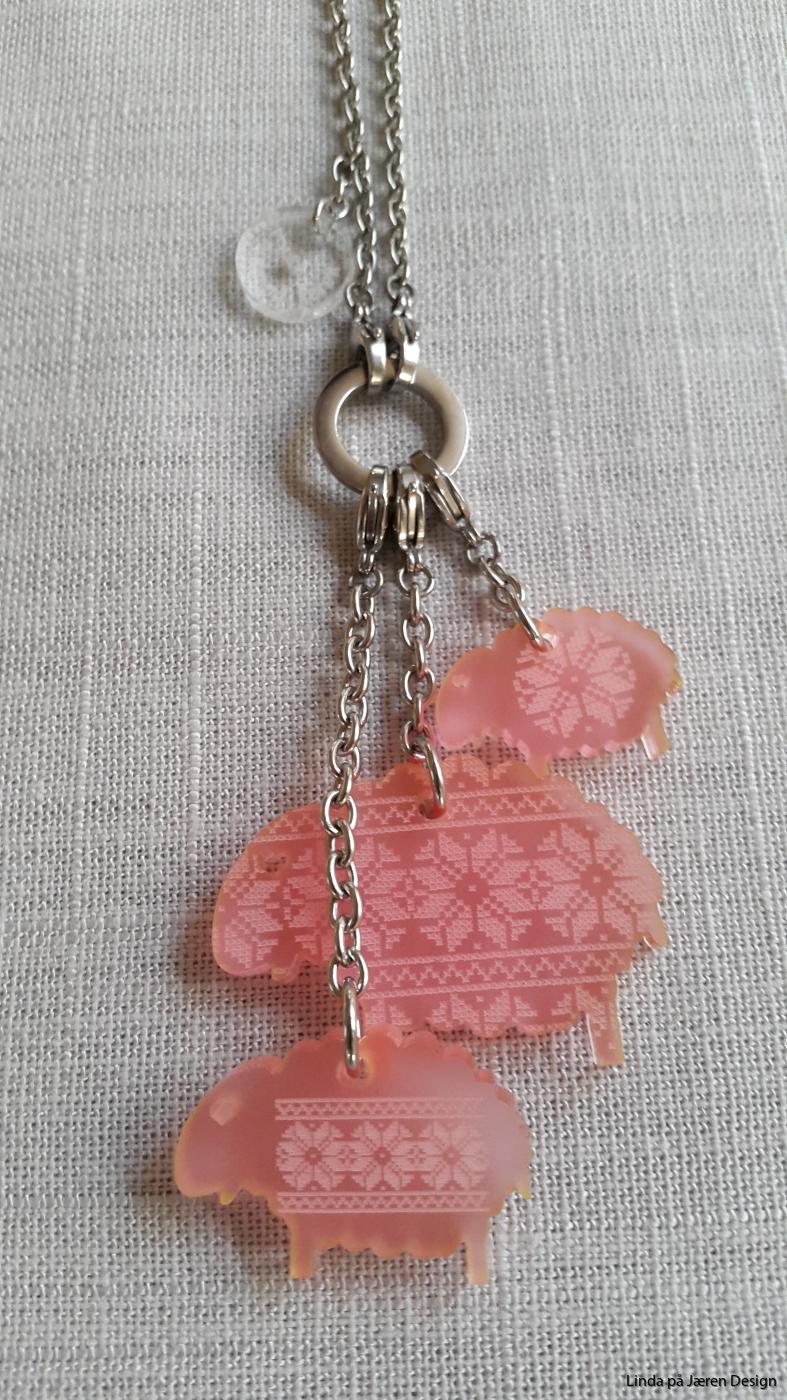Lammet Lykke rosa