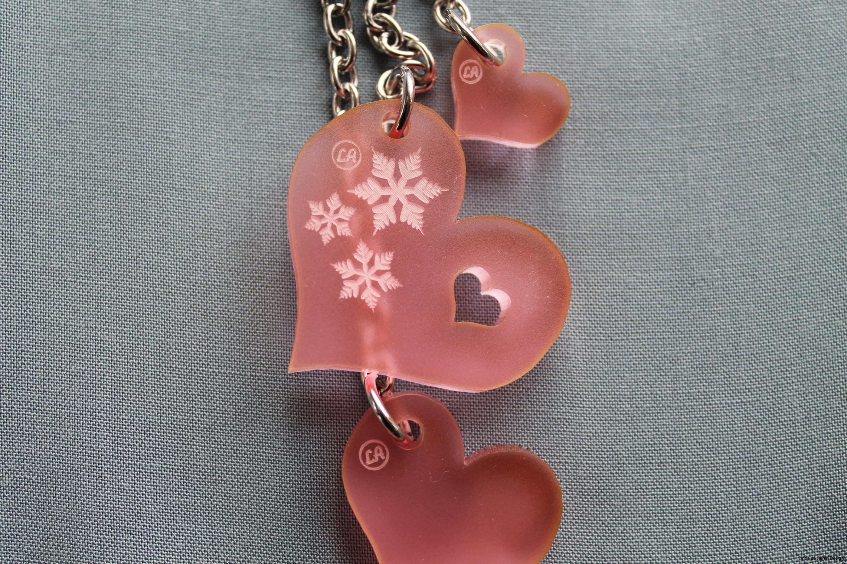Vinter Hjerte rosa