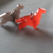 Hunder, Cocker Spaniel, i grå pleksi