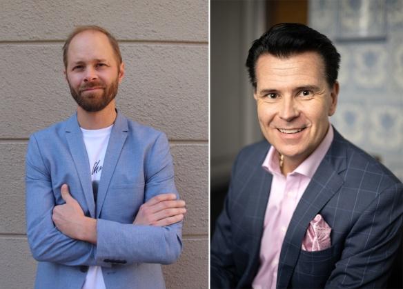 Till vänster: Andreas Pernhall Vd Human&heart,                till höger: Peter Hellgren Vd Consid