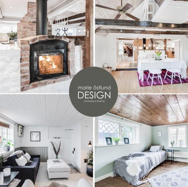 Homestyling & Inredning av hus i Holm - Homestyling av Marie Östlund Design