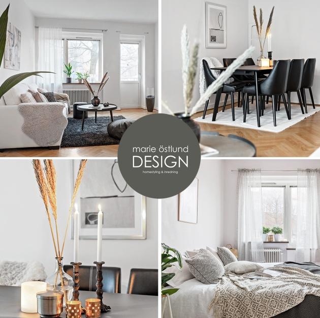 Homestyling & inredning av lägenhet på Flygaregatan i Halmstad - Homestyling av Marie Östlund Design i Halmstad