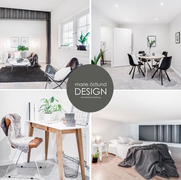 Inredning & Homestyling av lägenheter på Åttingstigen i Halmstad - Marie Östlund Design i Halmstad