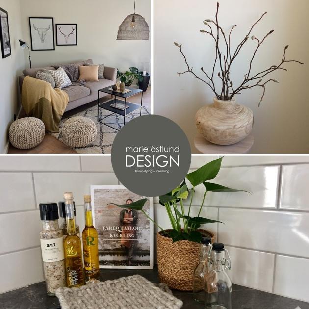 Homestyling av lägenhet i Halmstad - Marie Östlund Design Halmstad