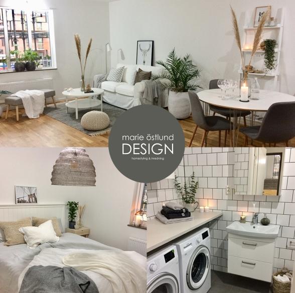Homestyling av visningslägenhet för HFAB i Halmstad - homestyling Marie Östlund Design