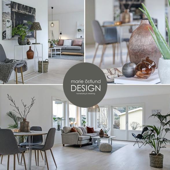 Homestyling av hus i Oskarström - homestyling av Marie Östlund Design Halmstad