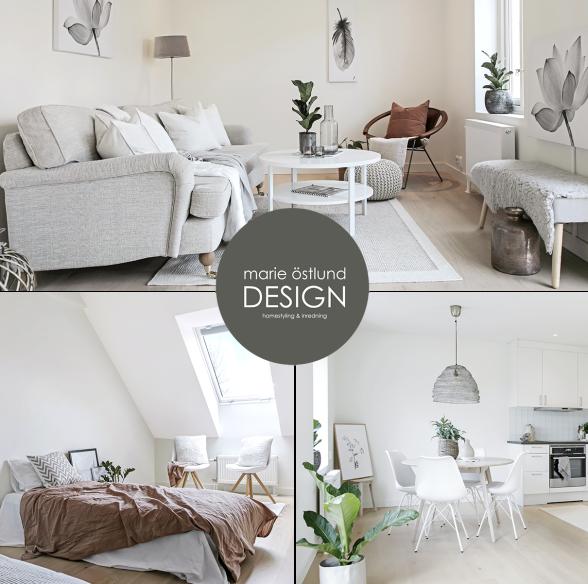 Full homestyling av tom radhuslägenhet i Torekov - homestyling av Marie Östlund Design i Halmstad