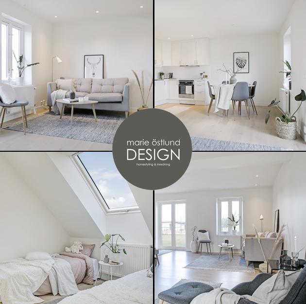 Full homestyling av tom radhuslägenhet i Torekov - homestyling av Marie Östlund Design, Halmstad
