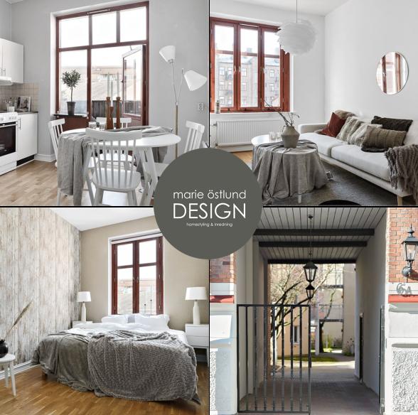 Homestyling av sekelskifteslägenhet i centrala Halmstad - homestyling av Marie Östlund Design i Halmstad