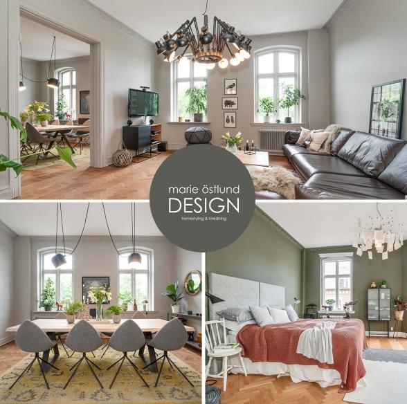 Homestyling Halmstad - Homestyling av sekelskiftesvåning av Marie Östlund DESIGN
