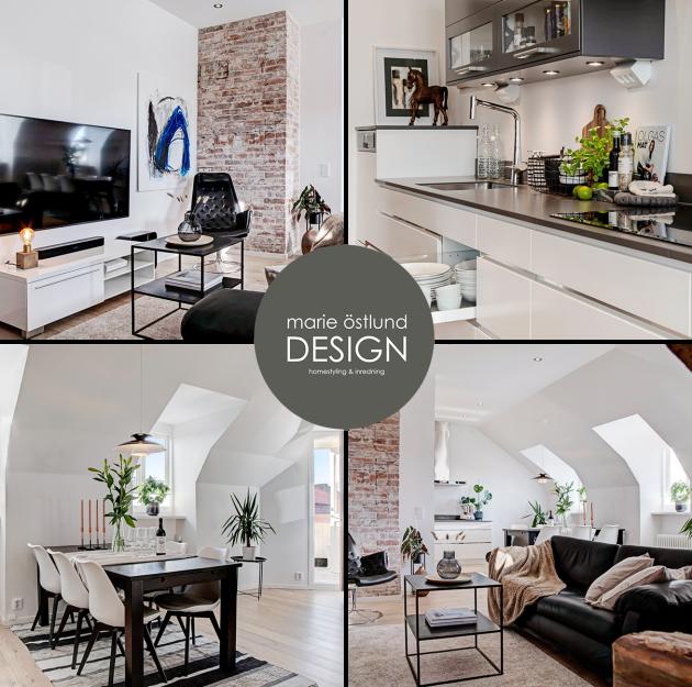 Homestyling av taklägenhet i Halmstad -  Homestyling i Hamstad av Marie Östlund Design