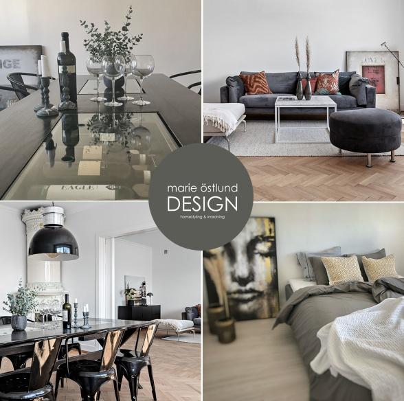 Homestyling av lägenhet på Broddessonsgatan i Halmstad - Homestyling av Marie Östlund Design i Halmstad