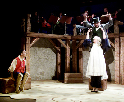 Hans-Erik Sundström i Estrad Norrs Pinocchio 1999. foto Estrad Norr