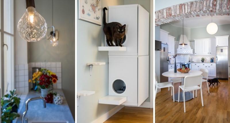 Smart DIY lösning för att gömma kattlådorna.