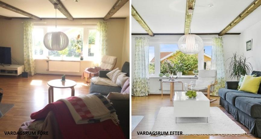Homestyling före och efter bild