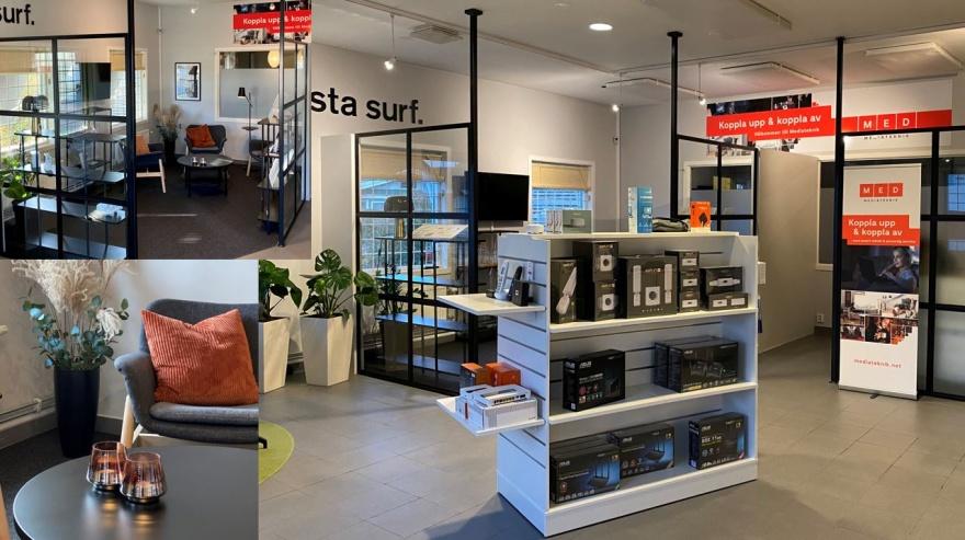 Myhres & Coey planerar din nya företagsmiljö fram till färdigt projekt som denna kontorslokal i Varberg, Halland